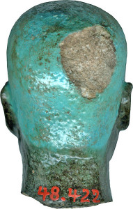 Head of Ptah. Image in public domain, available at http://upload.wikimedia.org/wikipedia/commons/2/2c/Egyptian_-_Head_of_Ptah_-_Walters_48422_-_Back.jpg.