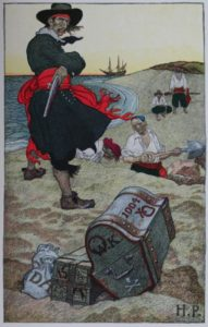 Public Domain Image from Howard Pyle's Book of Pirates. Available at https://commons.wikimedia.org/wiki/File:Pyle_pirates_burying2.jpg#mediaviewer/File:Pyle_pirates_burying2.jpg