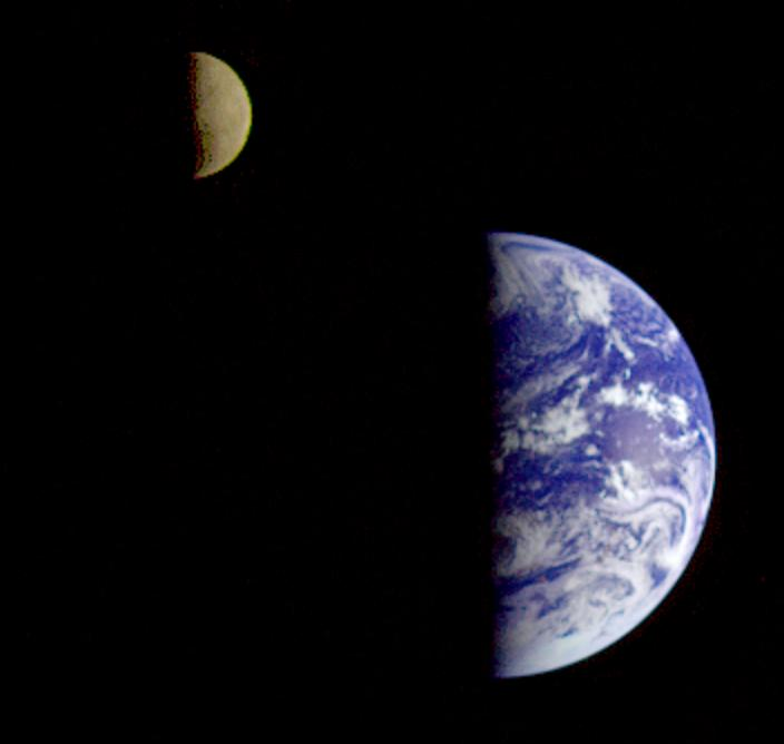 Public domain image (NASA) available at http://commons.wikimedia.org/wiki/File:Earth-Moon_System.jpg#mediaviewer/File:Earth-Moon_System.jpg.