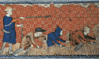 "Public domain image, ""Reeve and Serfs,"" the Queen Mary Master. Available at http://upload.wikimedia.org/wikipedia/commons/6/61/Reeve_and_Serfs.jpg."