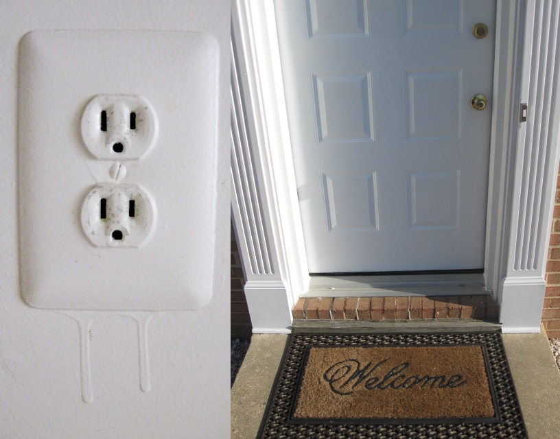 Electric Socket and Welcome Mat