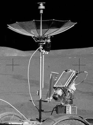 """Apollo 15 Television Camera"" by NASA/James B. Irwin - Cropped version of http://www.hq.nasa.gov/alsj/a15/AS15-85-11471HR.jpg. Licensed under Public domain via Wikimedia Commons - http://commons.wikimedia.org/wiki/File:Apollo_15_Television_Camera.JPG#mediaviewer/File:Apollo_15_Television_Camera.JPG"