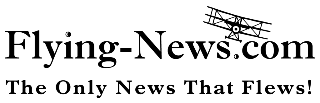 The Flying News bumper sticker