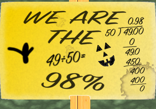 WE ARE THE 98%