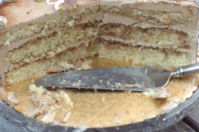 A really tasty-looking three-layer cake!