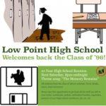 Flyer for high school reunion