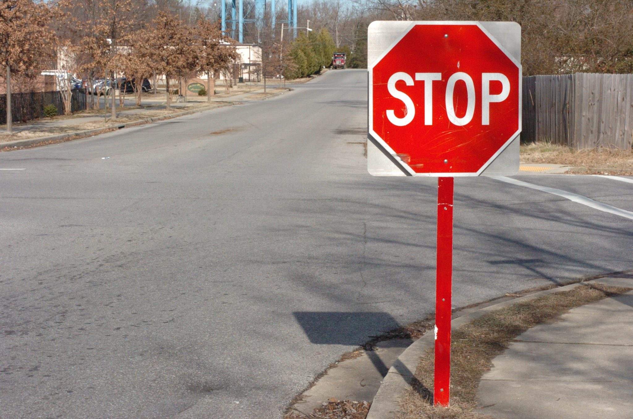 Stop sign for the hearing impaired.