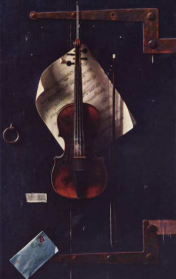 The Old Violin, by William Michael Harnett.